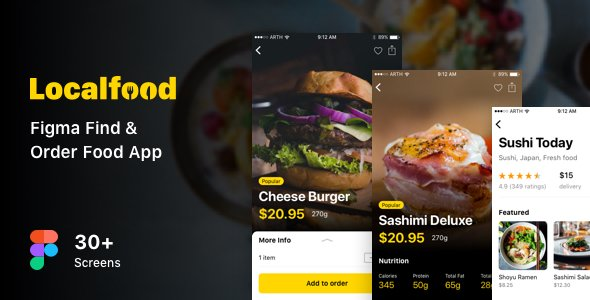 Localfood – Figma Find & Order Food App