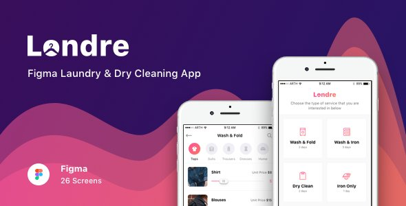 Londre – Figma Laundry & Dry Cleaning App