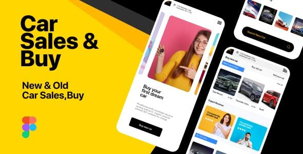MFC | Car Sales and Buy Mobile App Figma Template