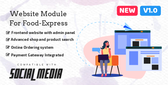 Multi-Vendor E-commerce Website & Admin Panel Module For Food-Express