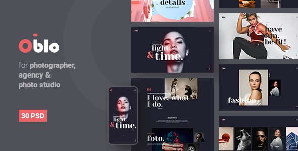 Oblo |  Photography PSD Template