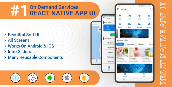 OnDemand Services – React Native App UI Template
