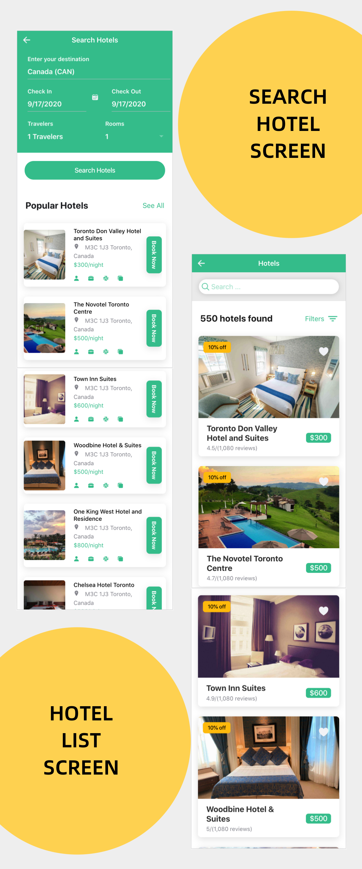 Hillside - A Hotel Booking Theme UI App By Ionic 5 Angular 9 (Latest) - 5