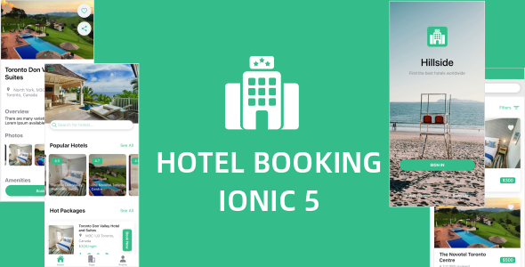 Hillside – A Hotel Booking Theme UI App By Ionic 5 Angular 9 (Latest)