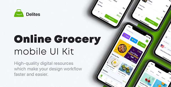 Delites – Online Grocery & Recipes UI Kit for Adobe XD