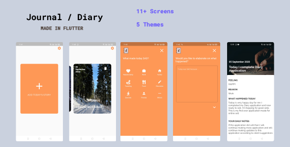 Diary / Journal Application | Offline Support only