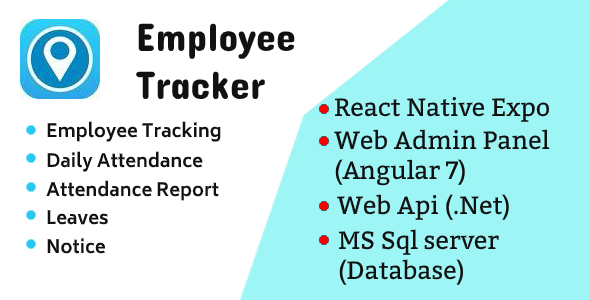 Employee Tracker Mobile App and Web Admin Panel – Source Code