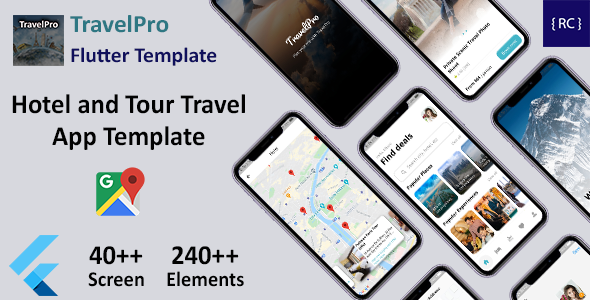 Flutter Hotel and Tour Travel App Template in Flutter | TravelPro