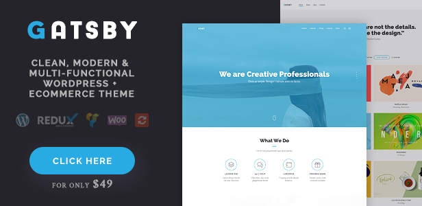 Gatsby - Business, Consulting, Agency, App Showcase, Portfolio HTML Theme - 1