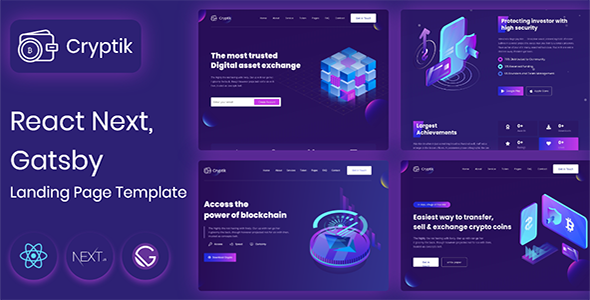 ICO Cryptik – Crypto Currency & ICO React landing Page