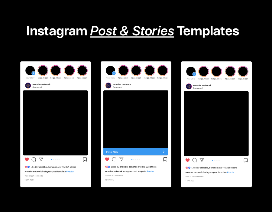 Instagram Post&Stories Template