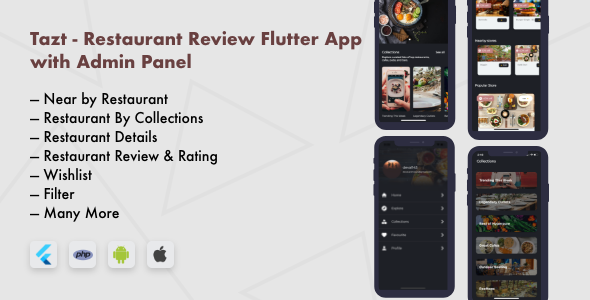 Restaurant Review Flutter App with Admin Panel