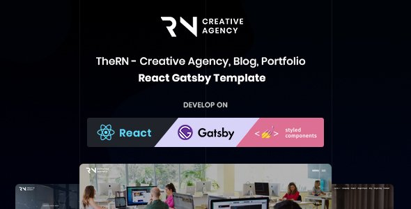 TheRN – React Gatsby Creative Agency  Template