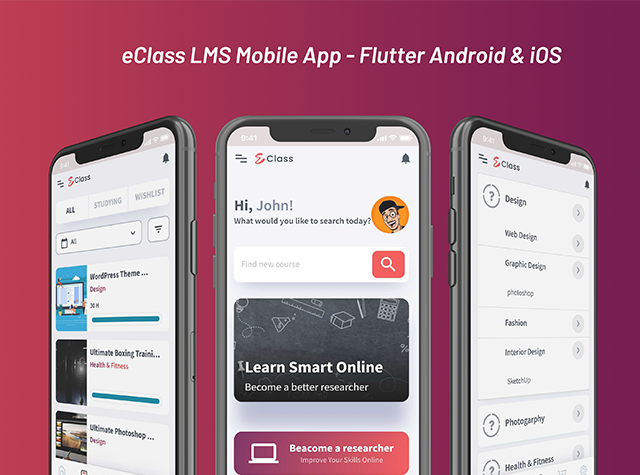 eClass LMS Mobile App - Flutter Android & iOS - 3
