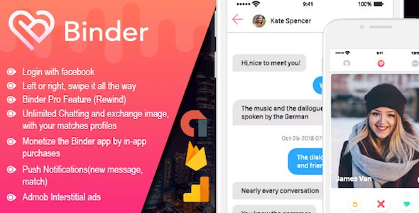 Binder – Dating clone App with admin panel – iOS