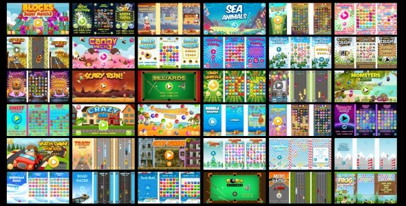 36 HTML5 GAMES IN 1 SUPER BUNDLE!!! (Construct 3 | Construct 2 | Capx)
