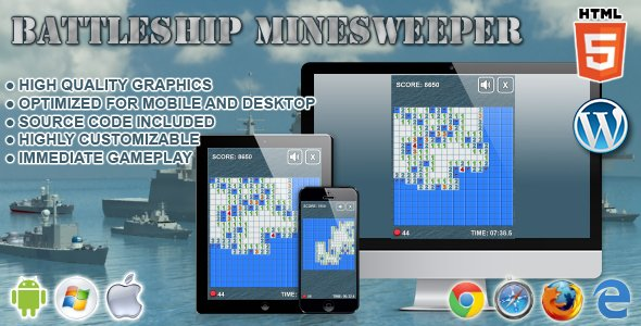 Battleship Minesweeper – HTML5 Game