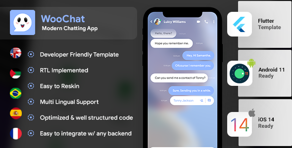 Chatting & Group Chatting Android App Template + iOS App Template | Calling App | Social App Flutter