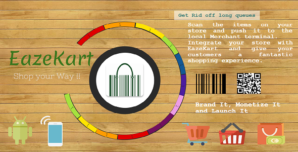 EazeKart – BarCode Scan App, queue less, retail, Shopping, Mobile POS