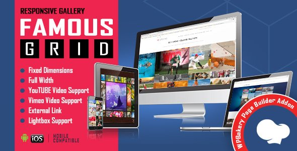 Famous – Responsive Image & Video Grid Gallery for WPBakery Page Builder (formerly Visual Composer)