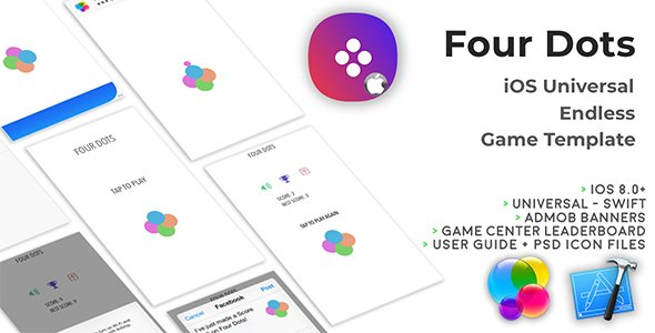 Four Dots | iOS Universal Endless Board Game Template (Swift)