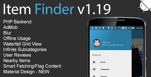 Item Finder MarketPlace Full Android Application v1.19