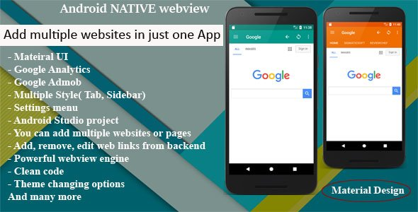 Multi Web App Android Native WebView | WebToApp template with Admob and Push Notifications