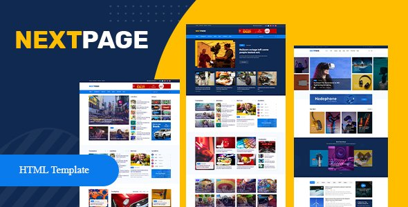 Nextpage – Magazine & Newspaper HTML Template