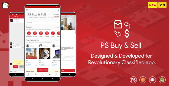 PS BuySell ( Olx, Mercari, Offerup, Carousell, Buy Sell ) Clone  Classified App ( 2.9 )