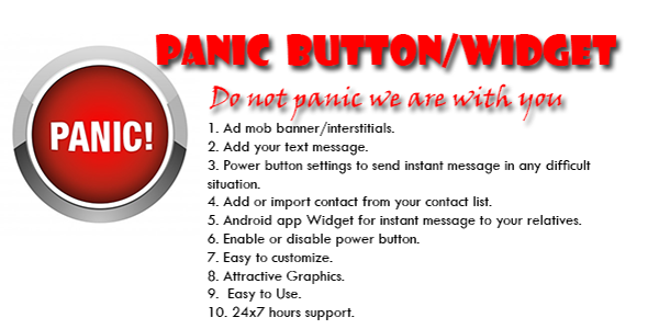 Panic Android Application And Widget