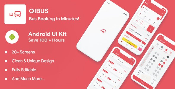 QIBus- Bus booking android app ui template – Kotlin