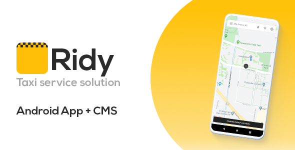 Ridy – Taxi Application Android + Dashboard
