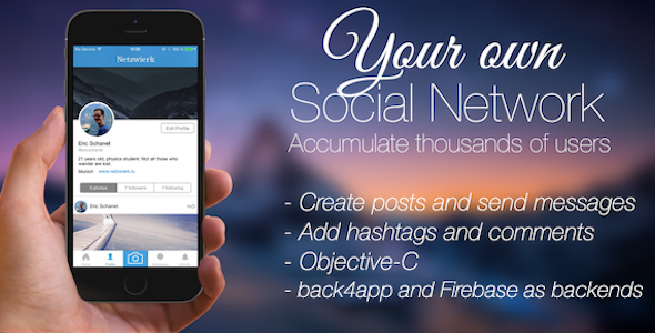 Social Network – Your complete social network app (iOS)