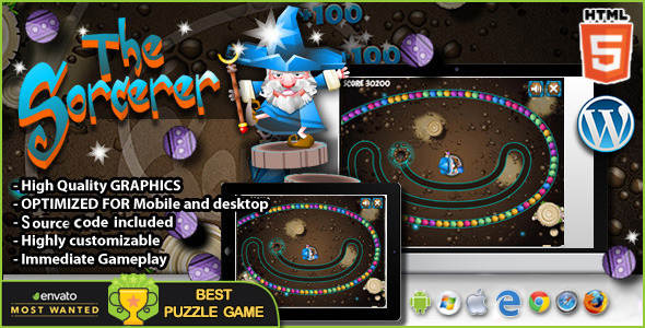 The Sorcerer  – HTML5 Puzzle Game