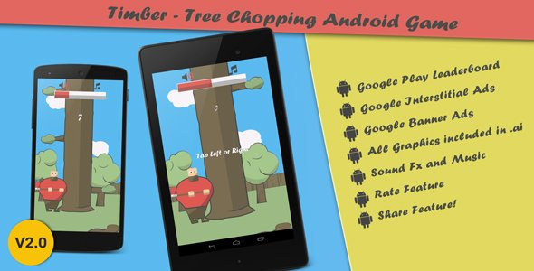 Timber – Tree Chopping Android Arcade Game