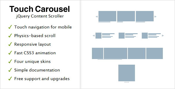 TouchCarousel – jQuery Content Scroller and Slider