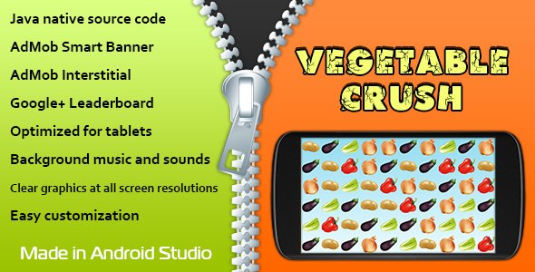 Vegetable Crush with AdMob and Leaderboard