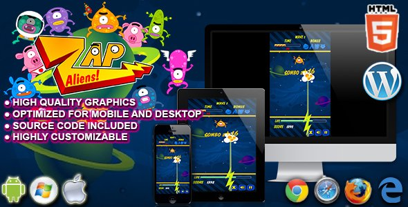 Zap Aliens – HTML5 Arcade Game