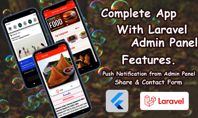 Food Recipe app with Flutter and Laravel
