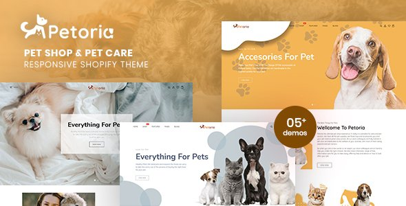 Petoria – Pet Shop & Pet Care Responsive Shopify Theme