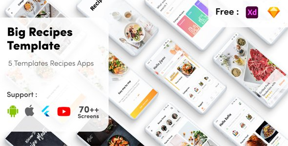 Recipe UI Kit Flutter