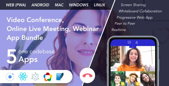 Teammeet – Video Conference, Online Live Meeting, Webinar App Bundle (Web, Android & Desktop)