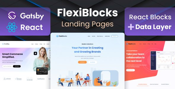 FlexiBlocks – React Gatsby Landing Page Templates