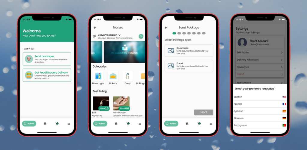 Fuodz – Grocery, Food, Pharmacy Courier Delivery App + Backend + Driver & Vendor app - 2