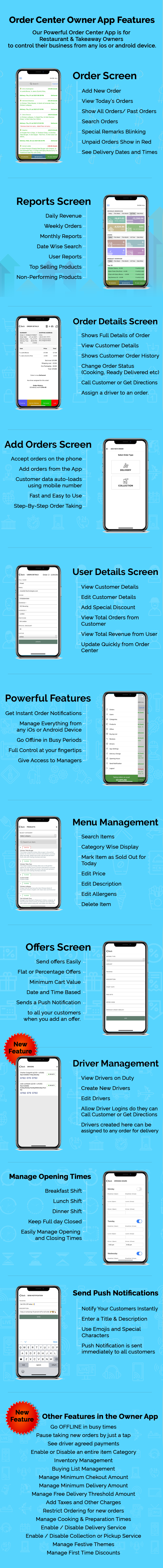 Best Takeaway Restaurant Online Food Ordering Delivery System - iOs Android Kitchen Onwer Web Admin - 10