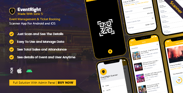 Scanner App – Ticket Sales and Event Booking Management System