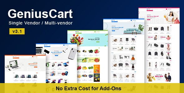 GeniusCart – Single or Multi vendor Ecommerce System with Physical and Digital Product Marketplace