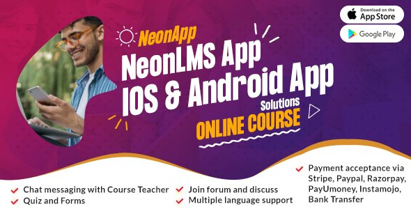 NeonLMS Mobile App – React Native Android & iOS App